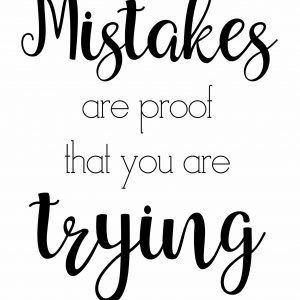 mistakes are proof digital art print