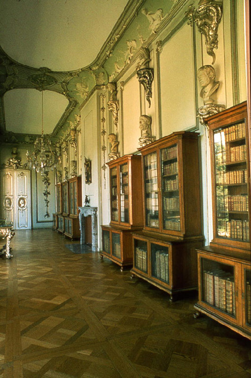 library of the prussian king frederic the second in potsdam germany