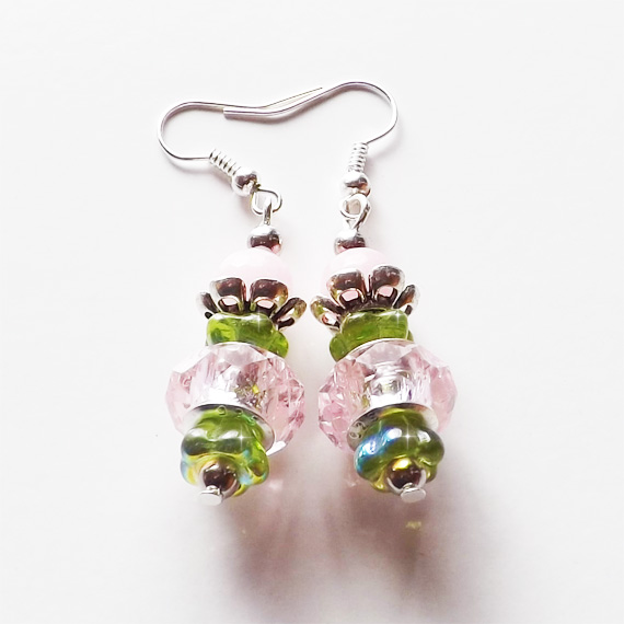 Pink & Green earrings Etsy Cover 2