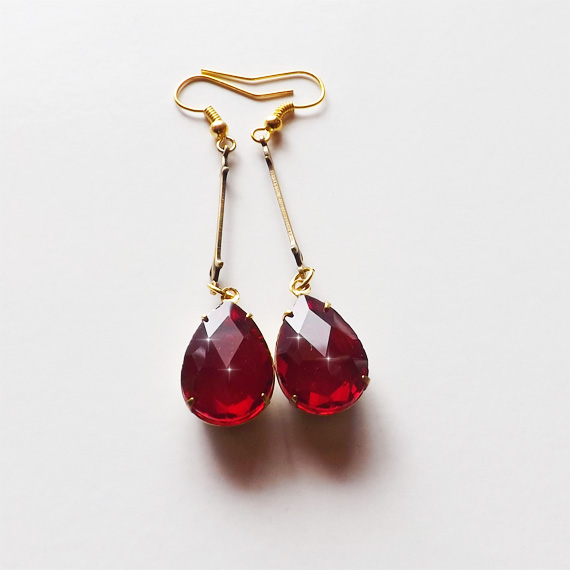 Red Gold Earrings Etsy Cover 2