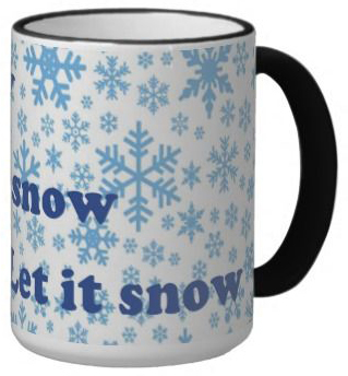 A picture of the let it snow mug