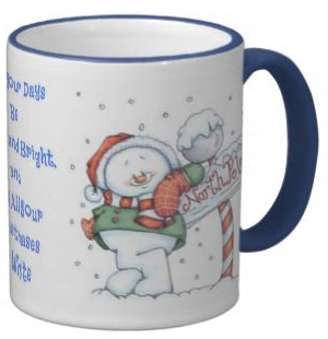 Picture of the snowman mug