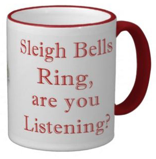 Picture of the sleigh bells mug