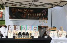 Photo of our jewellery stall at a market