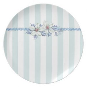 Blue Christmas Porcelain Plate.