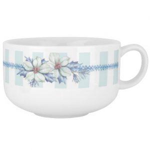 Blue Christmas Soup Mug