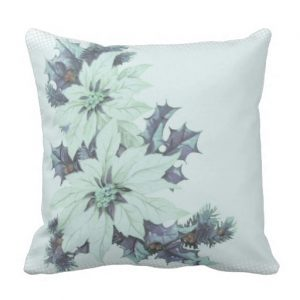 Blue Christmas Cushion