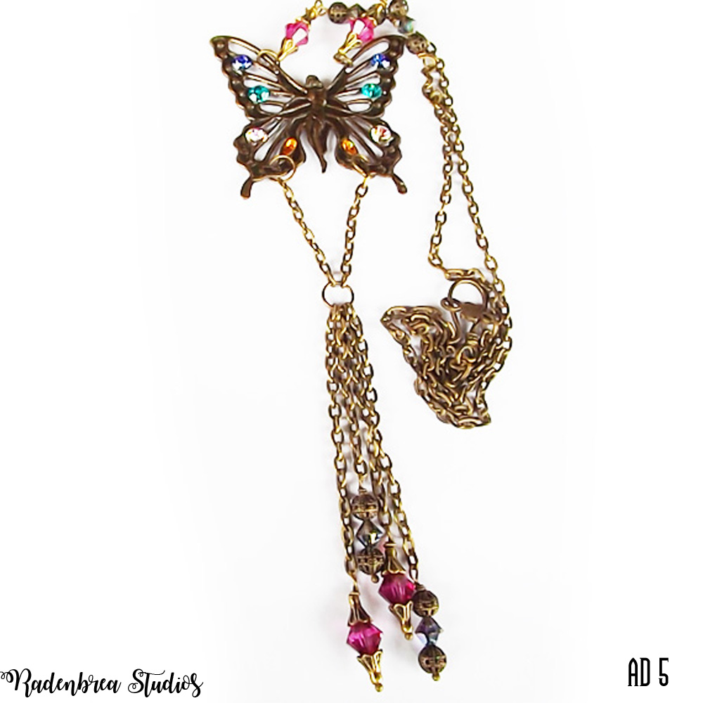 Art Deco Butterfly Necklace