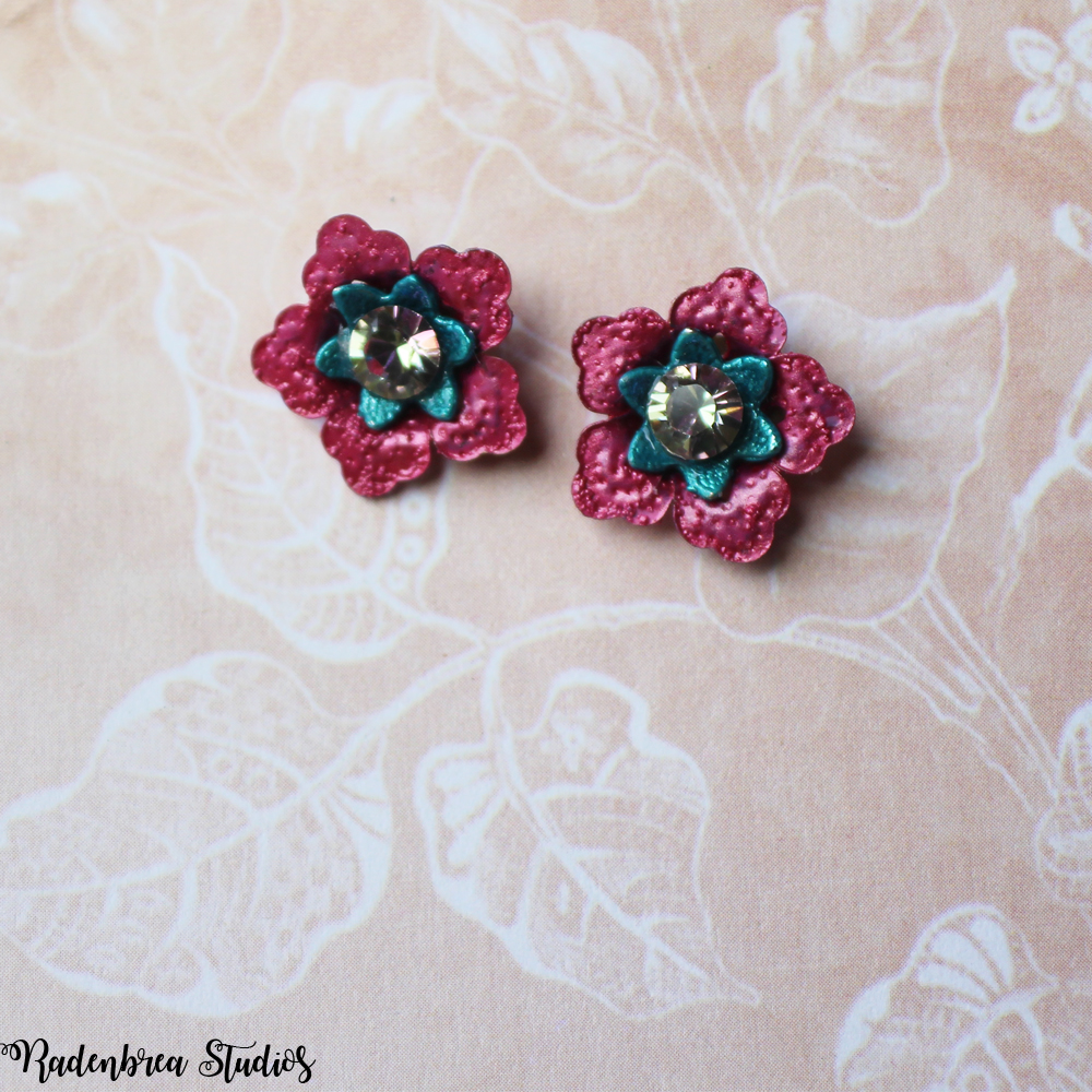 Pink Blossom Stud earrings