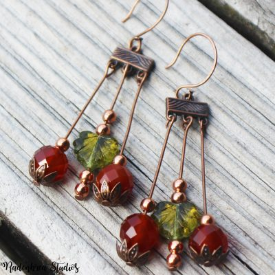 Autumn Berry Copper Earrings pic 1