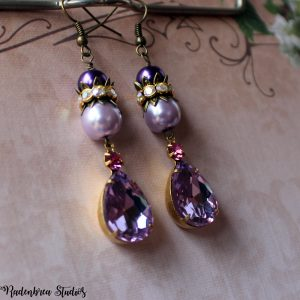 lilac vintage earrings
