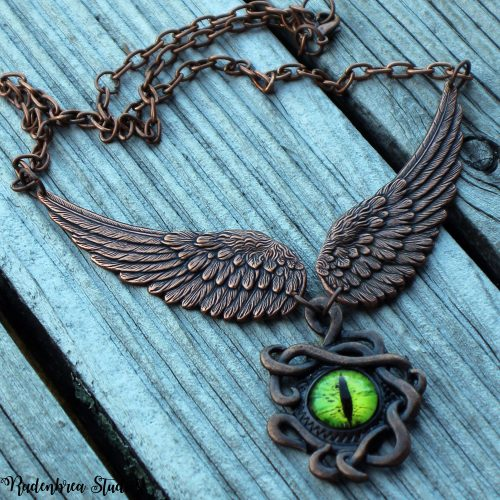 dragon wings and eye necklace