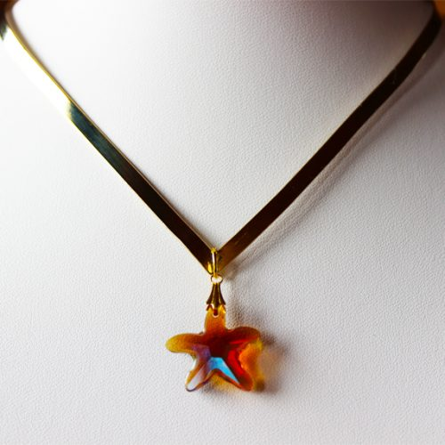 swarovski starfish necklace