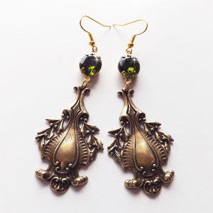 bronze baroque earrings
